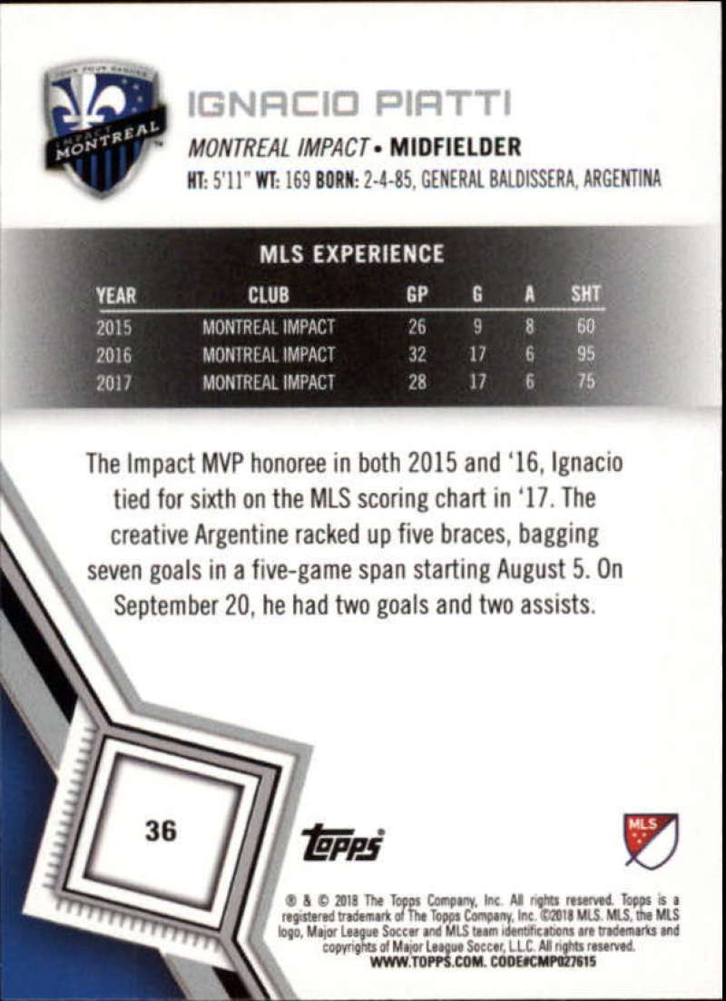 2018-Topps-MLS-Soccer-Base-Set-Cards-Choose-From-Card-039-s-1-200 thumbnail 73
