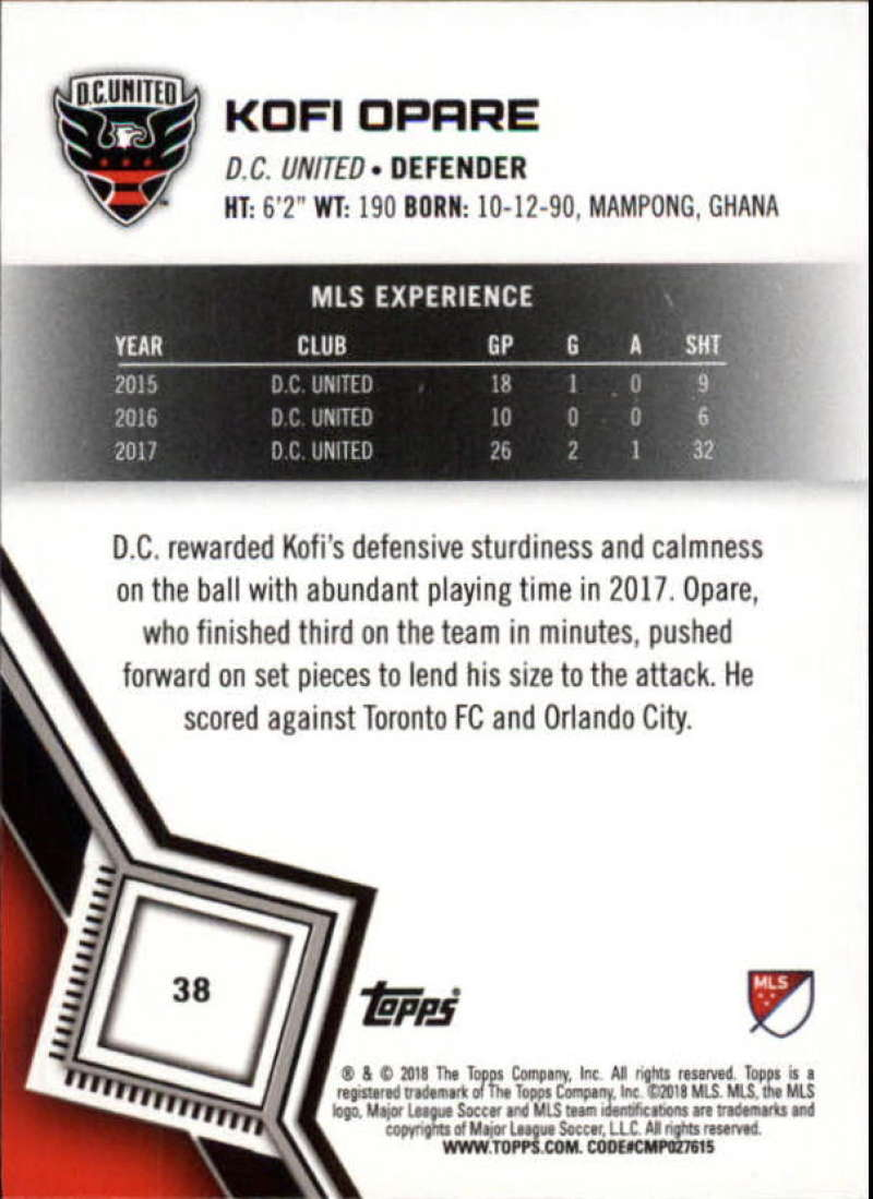2018-Topps-MLS-Soccer-Base-Set-Cards-Choose-From-Card-039-s-1-200 thumbnail 77