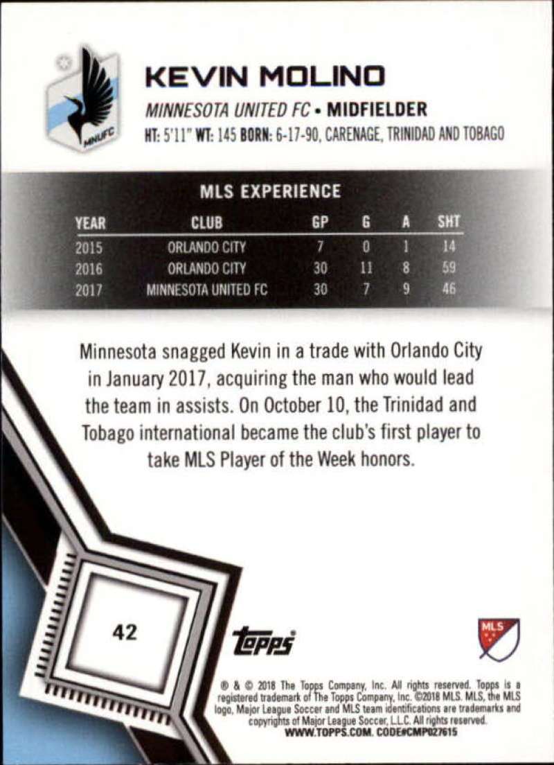 2018-Topps-MLS-Soccer-Base-Set-Cards-Choose-From-Card-039-s-1-200 thumbnail 85