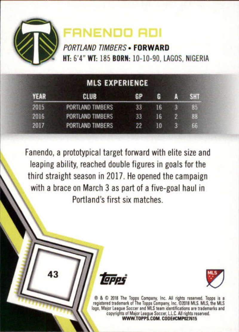2018-Topps-MLS-Soccer-Base-Set-Cards-Choose-From-Card-039-s-1-200 thumbnail 87