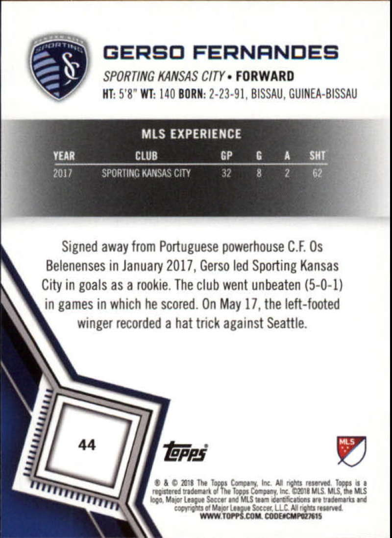 2018-Topps-MLS-Soccer-Base-Set-Cards-Choose-From-Card-039-s-1-200 thumbnail 89