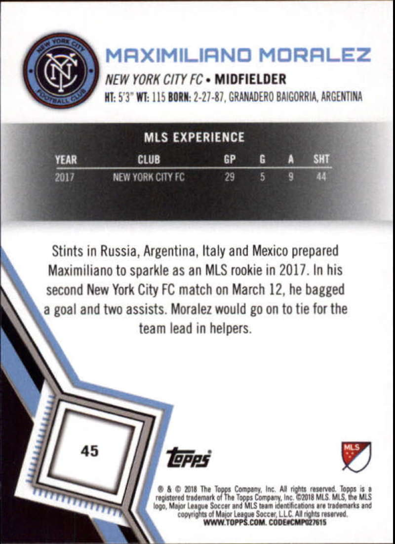 2018-Topps-MLS-Soccer-Base-Set-Cards-Choose-From-Card-039-s-1-200 thumbnail 91