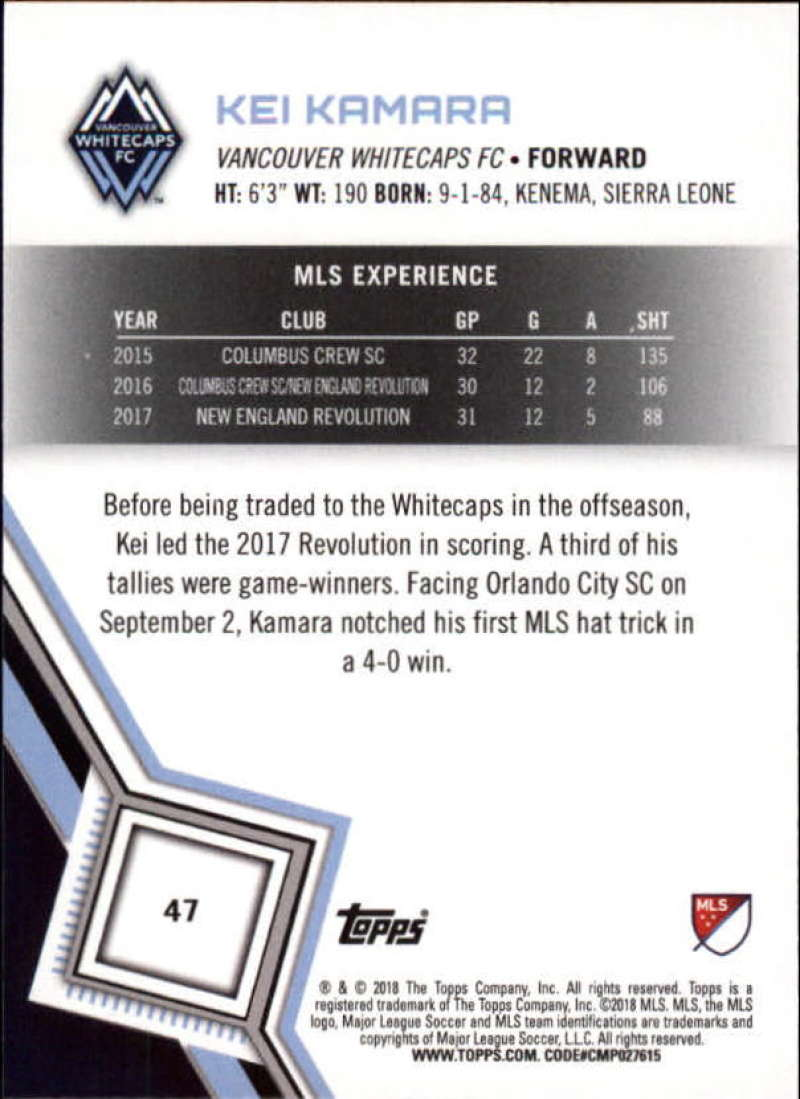 2018-Topps-MLS-Soccer-Base-Set-Cards-Choose-From-Card-039-s-1-200 thumbnail 95