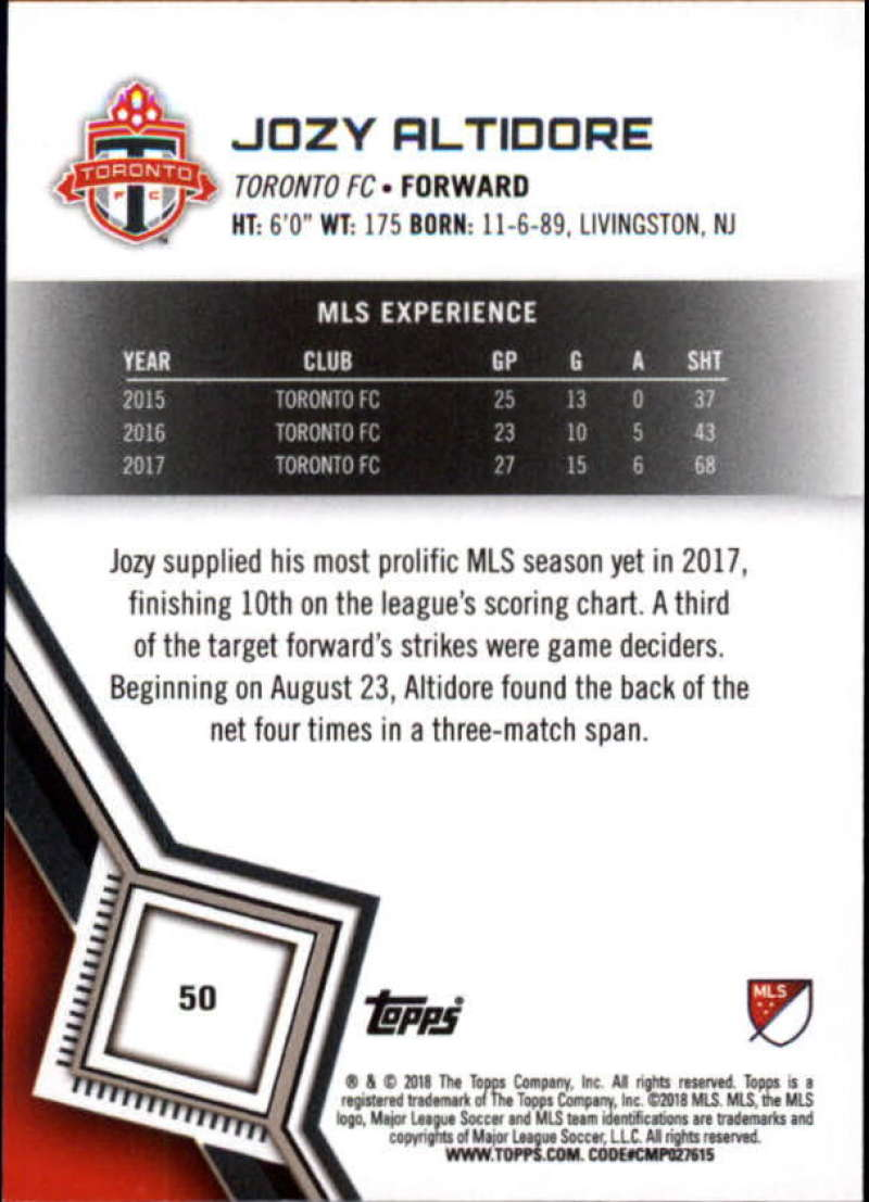 2018-Topps-MLS-Soccer-Base-Set-Cards-Choose-From-Card-039-s-1-200 thumbnail 101