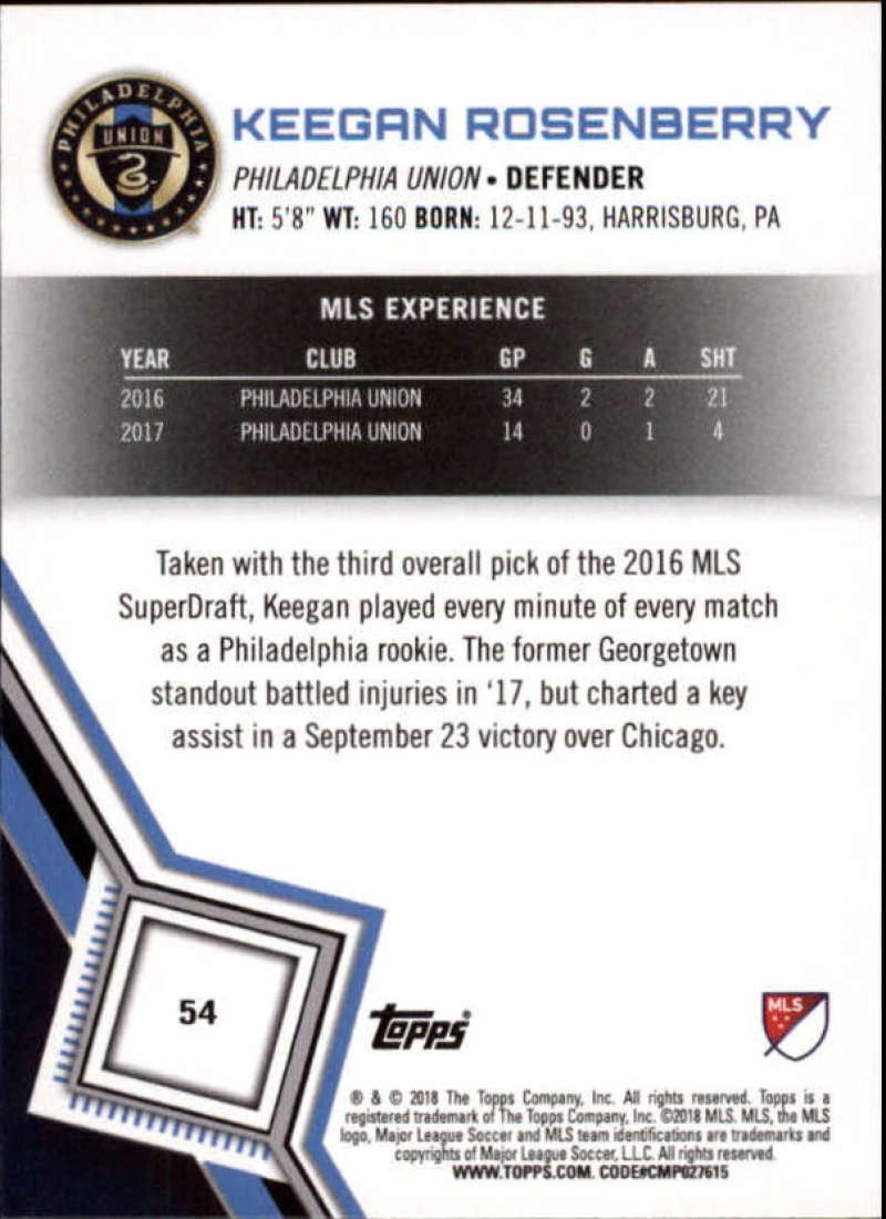2018-Topps-MLS-Soccer-Base-Set-Cards-Choose-From-Card-039-s-1-200 thumbnail 109