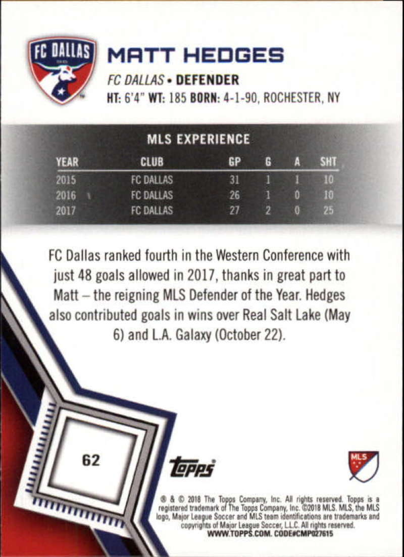 2018-Topps-MLS-Soccer-Base-Set-Cards-Choose-From-Card-039-s-1-200 thumbnail 124