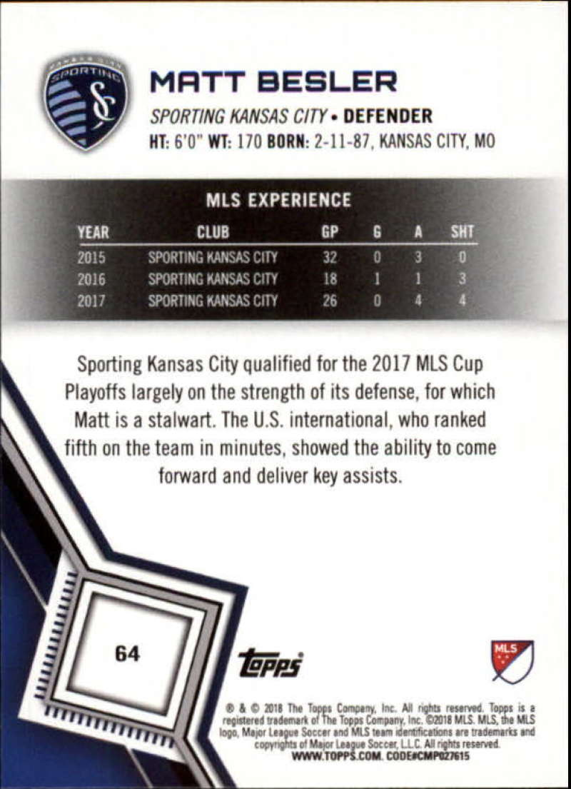 2018-Topps-MLS-Soccer-Base-Set-Cards-Choose-From-Card-039-s-1-200 thumbnail 128