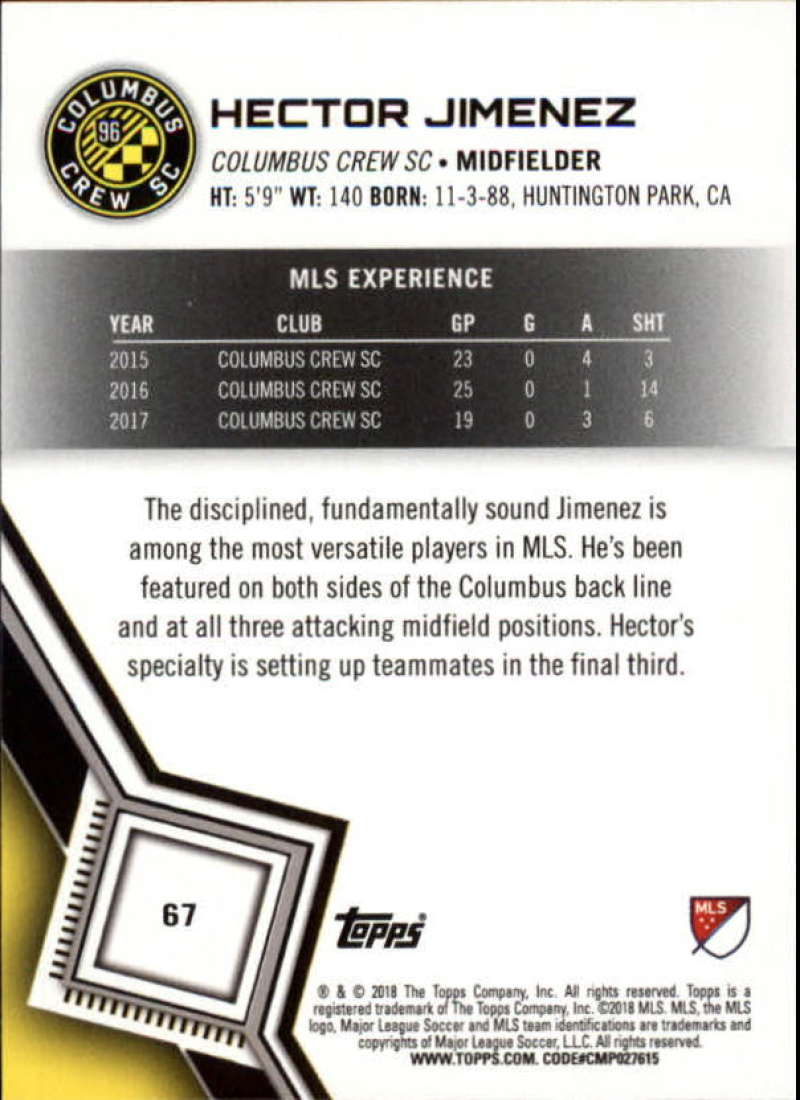 2018-Topps-MLS-Soccer-Base-Set-Cards-Choose-From-Card-039-s-1-200 thumbnail 134