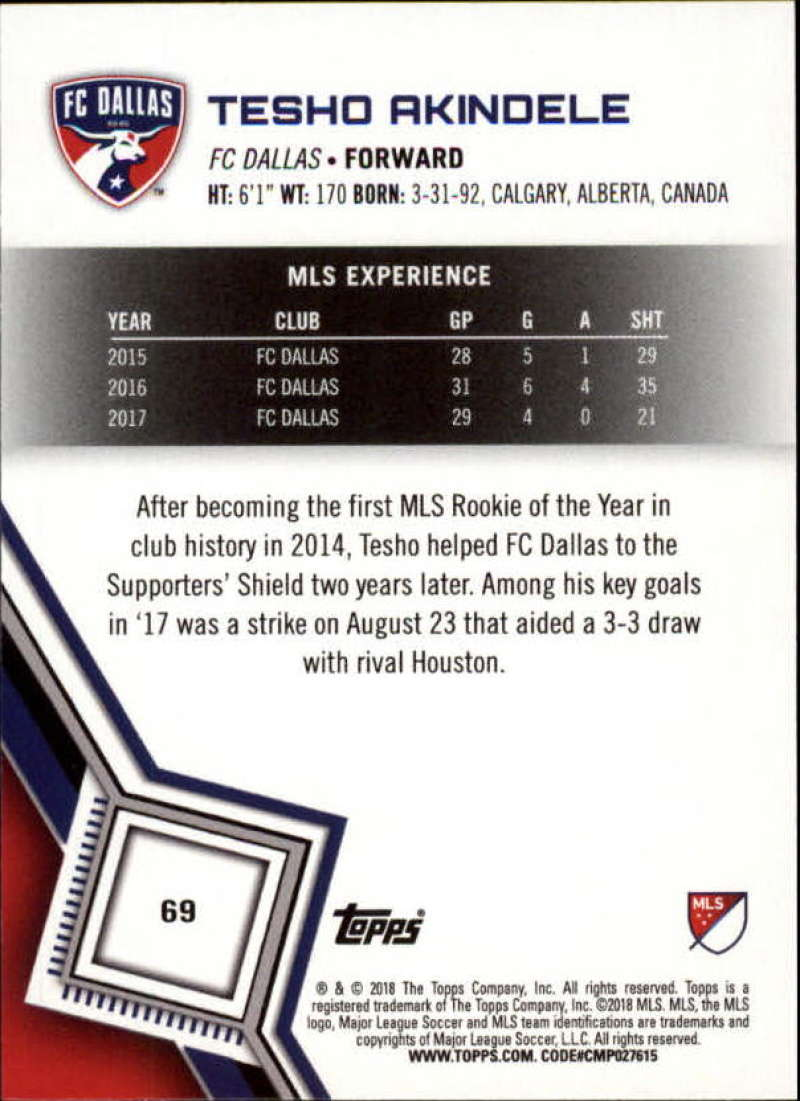 2018-Topps-MLS-Soccer-Base-Set-Cards-Choose-From-Card-039-s-1-200 thumbnail 138