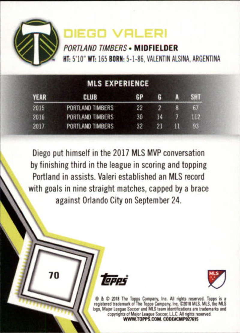 2018-Topps-MLS-Soccer-Base-Set-Cards-Choose-From-Card-039-s-1-200 thumbnail 140