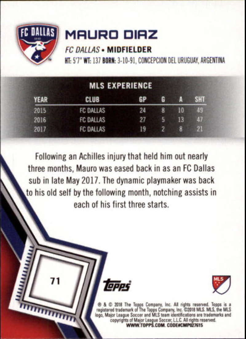 2018-Topps-MLS-Soccer-Base-Set-Cards-Choose-From-Card-039-s-1-200 thumbnail 142