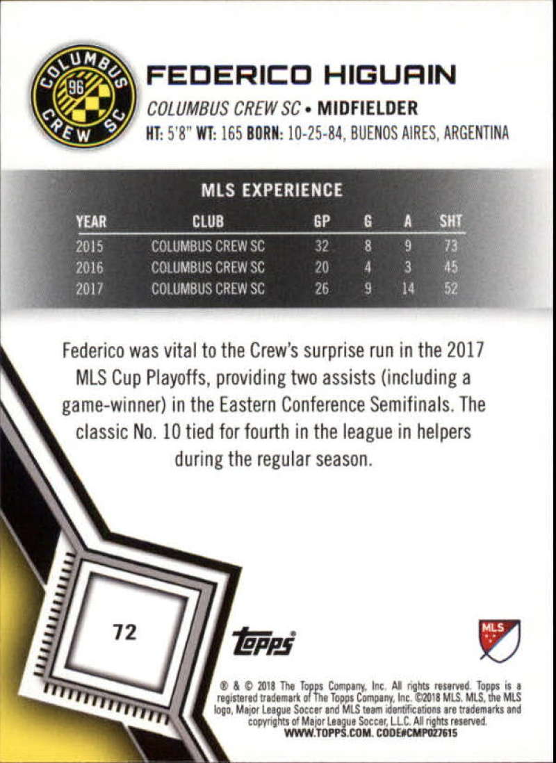 2018-Topps-MLS-Soccer-Base-Set-Cards-Choose-From-Card-039-s-1-200 thumbnail 144