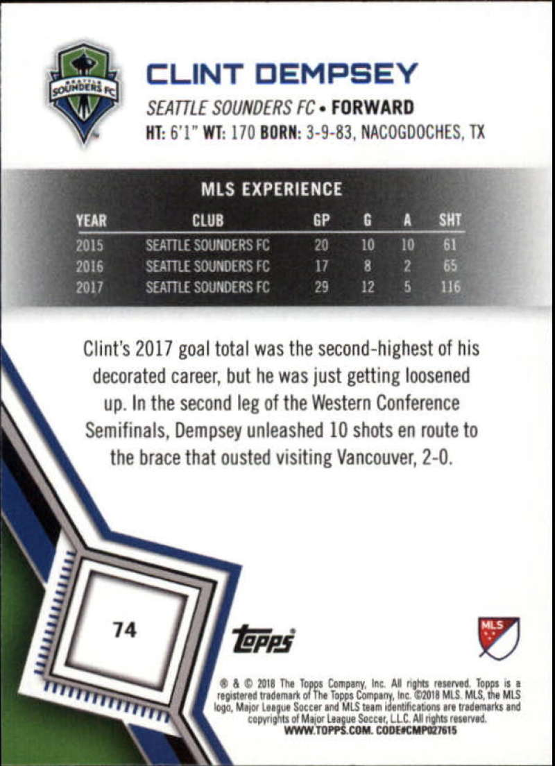 2018-Topps-MLS-Soccer-Base-Set-Cards-Choose-From-Card-039-s-1-200 thumbnail 148