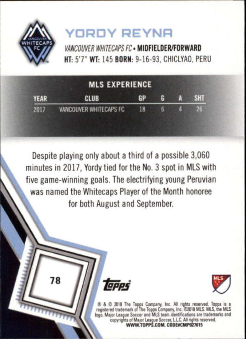 2018-Topps-MLS-Soccer-Base-Set-Cards-Choose-From-Card-039-s-1-200 thumbnail 156