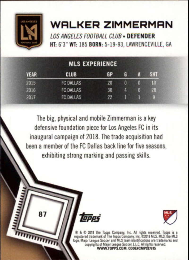 2018-Topps-MLS-Soccer-Base-Set-Cards-Choose-From-Card-039-s-1-200 thumbnail 174