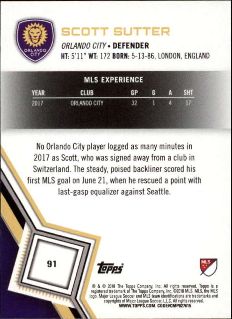 2018-Topps-MLS-Soccer-Base-Set-Cards-Choose-From-Card-039-s-1-200 thumbnail 182