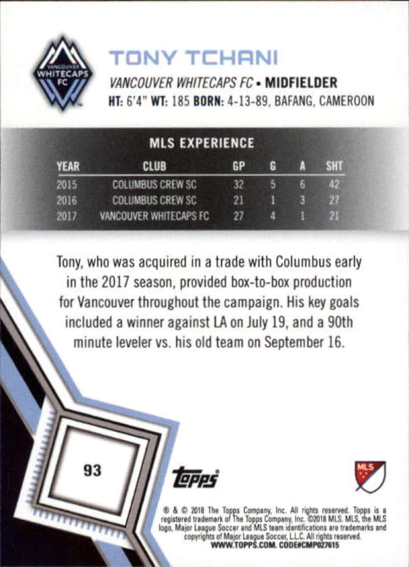 2018-Topps-MLS-Soccer-Base-Set-Cards-Choose-From-Card-039-s-1-200 thumbnail 186