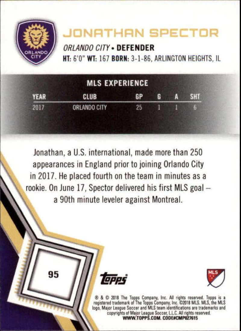 2018-Topps-MLS-Soccer-Base-Set-Cards-Choose-From-Card-039-s-1-200 thumbnail 190