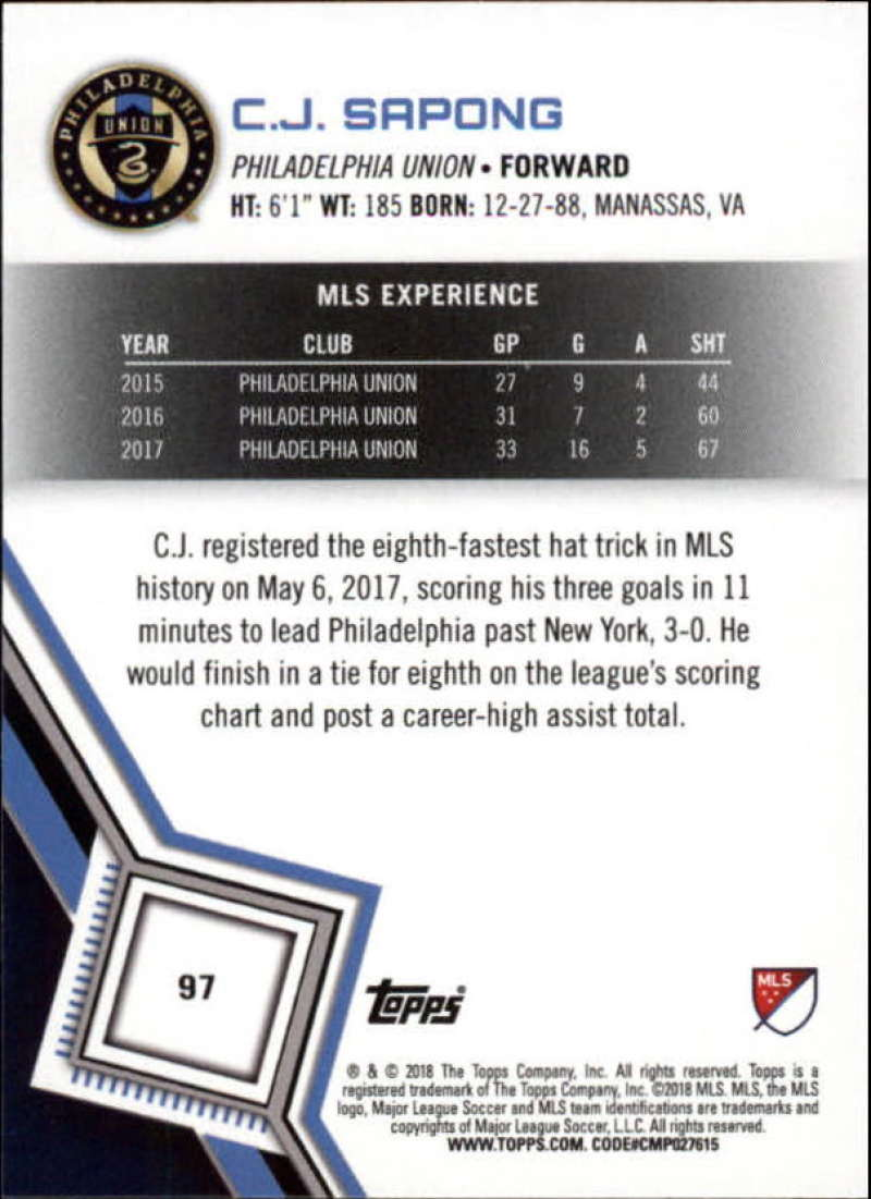 2018-Topps-MLS-Soccer-Base-Set-Cards-Choose-From-Card-039-s-1-200 thumbnail 194