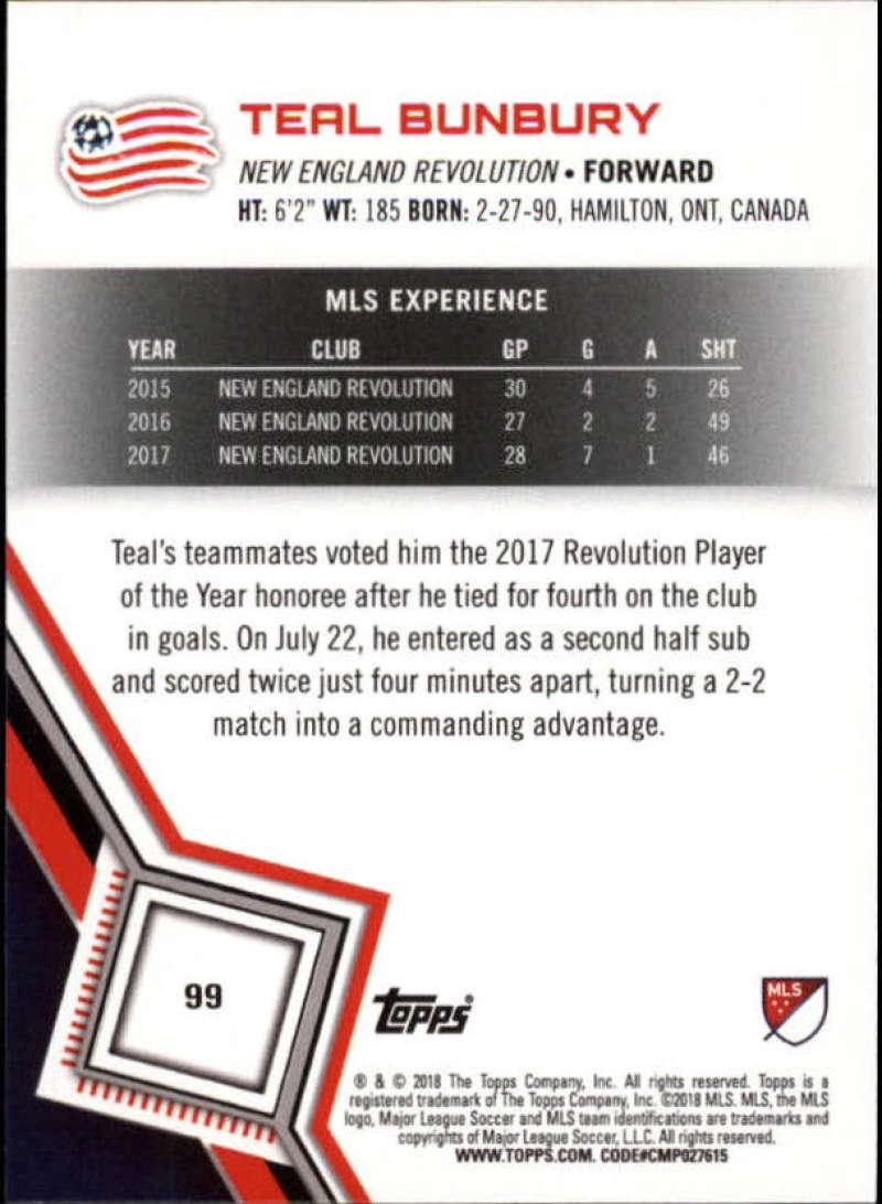 2018-Topps-MLS-Soccer-Base-Set-Cards-Choose-From-Card-039-s-1-200 thumbnail 198