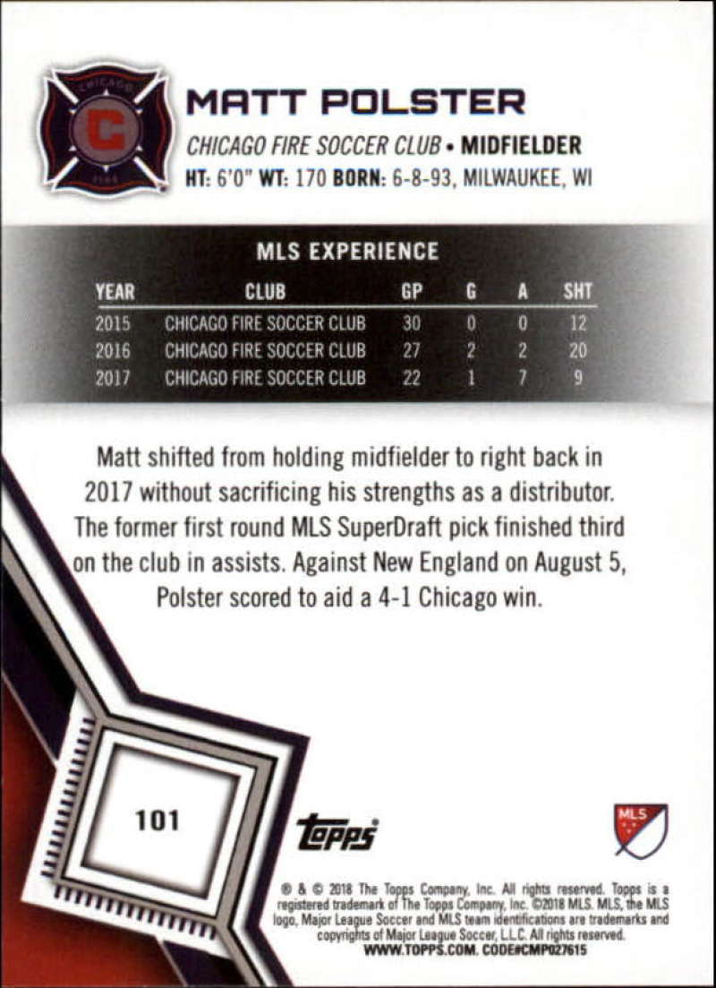 2018-Topps-MLS-Soccer-Base-Set-Cards-Choose-From-Card-039-s-1-200 thumbnail 202