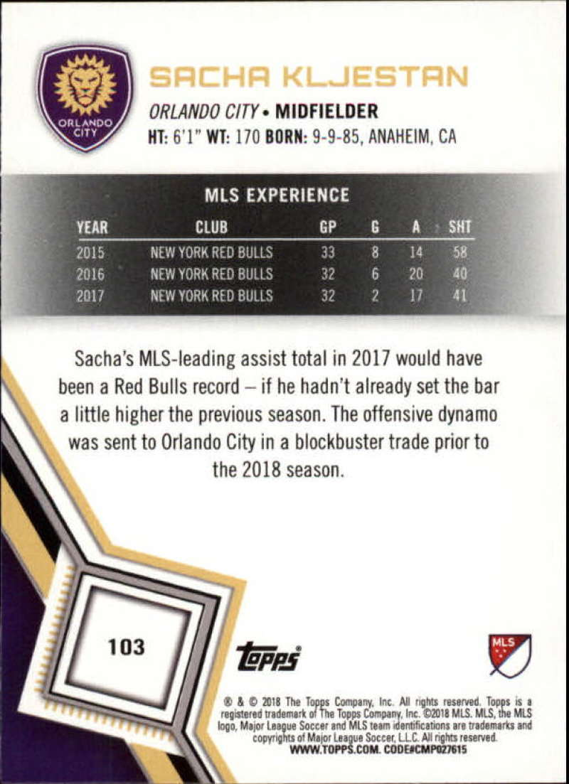 2018-Topps-MLS-Soccer-Base-Set-Cards-Choose-From-Card-039-s-1-200 thumbnail 206