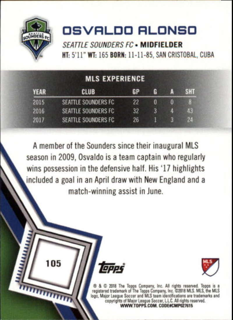 2018-Topps-MLS-Soccer-Base-Set-Cards-Choose-From-Card-039-s-1-200 thumbnail 210