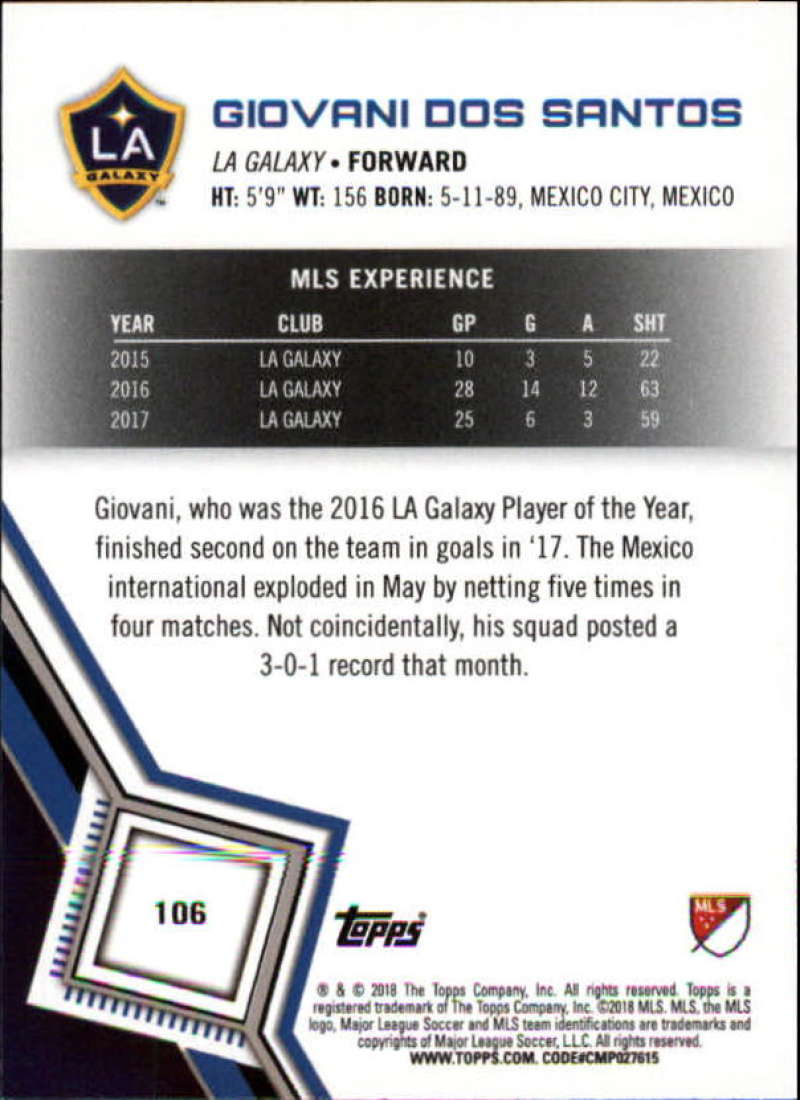 2018-Topps-MLS-Soccer-Base-Set-Cards-Choose-From-Card-039-s-1-200 thumbnail 212