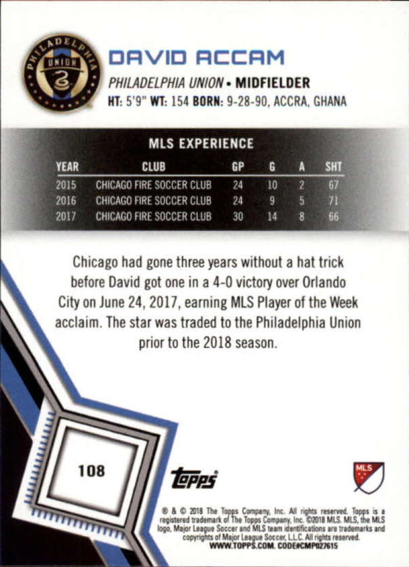2018-Topps-MLS-Soccer-Base-Set-Cards-Choose-From-Card-039-s-1-200 thumbnail 216