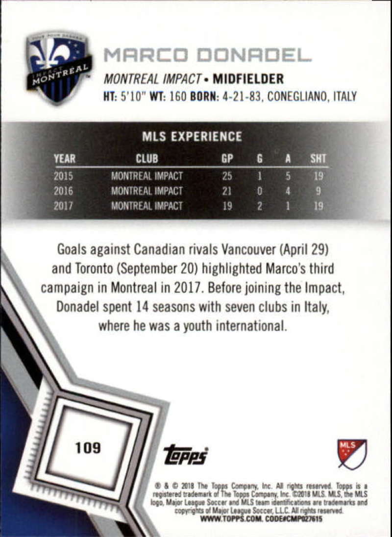 2018-Topps-MLS-Soccer-Base-Set-Cards-Choose-From-Card-039-s-1-200 thumbnail 218