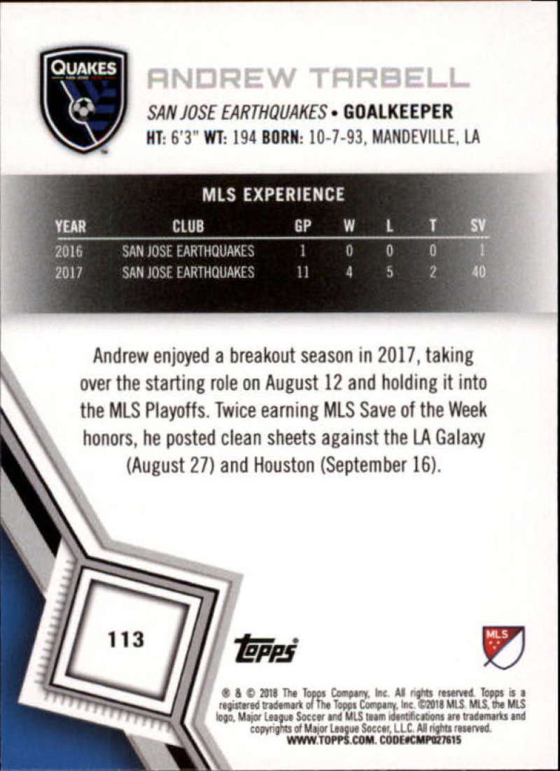 2018-Topps-MLS-Soccer-Base-Set-Cards-Choose-From-Card-039-s-1-200 thumbnail 226