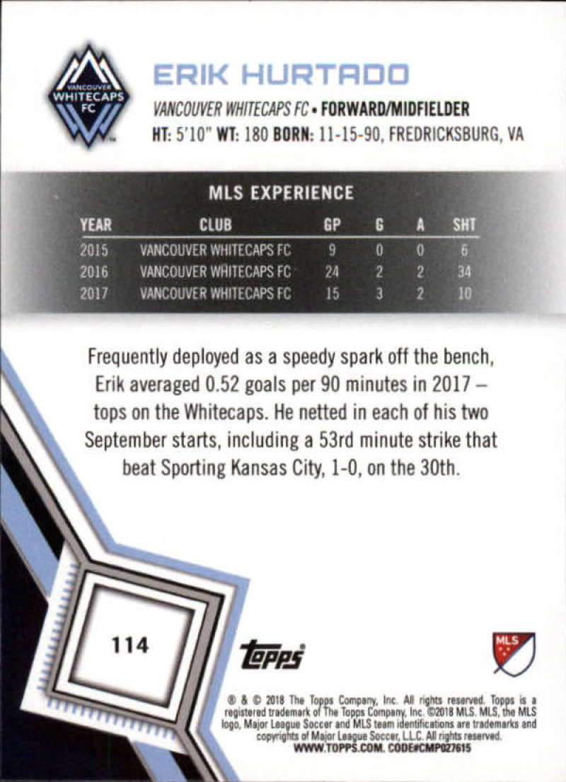 2018-Topps-MLS-Soccer-Base-Set-Cards-Choose-From-Card-039-s-1-200 thumbnail 228