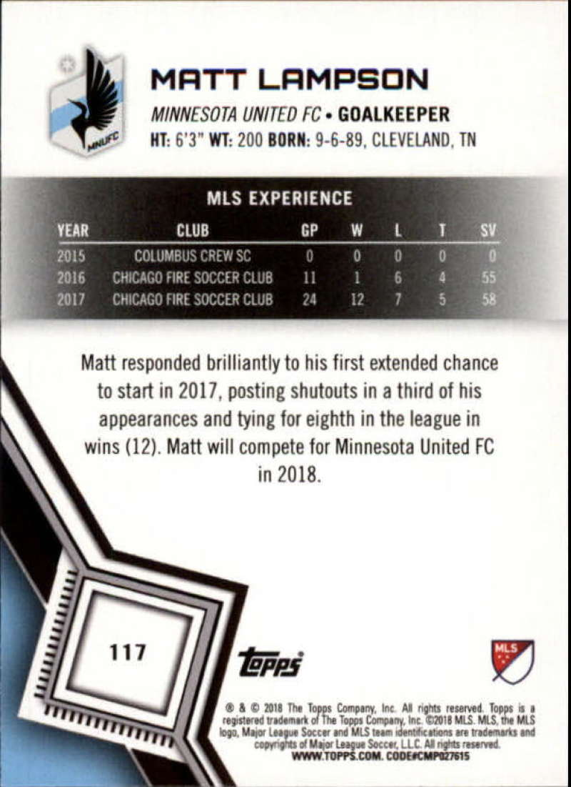 2018-Topps-MLS-Soccer-Base-Set-Cards-Choose-From-Card-039-s-1-200 thumbnail 234