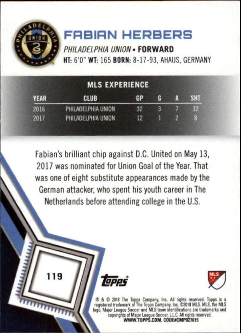 2018-Topps-MLS-Soccer-Base-Set-Cards-Choose-From-Card-039-s-1-200 thumbnail 238