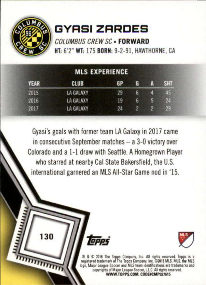 2018-Topps-MLS-Soccer-Base-Set-Cards-Choose-From-Card-039-s-1-200 thumbnail 258