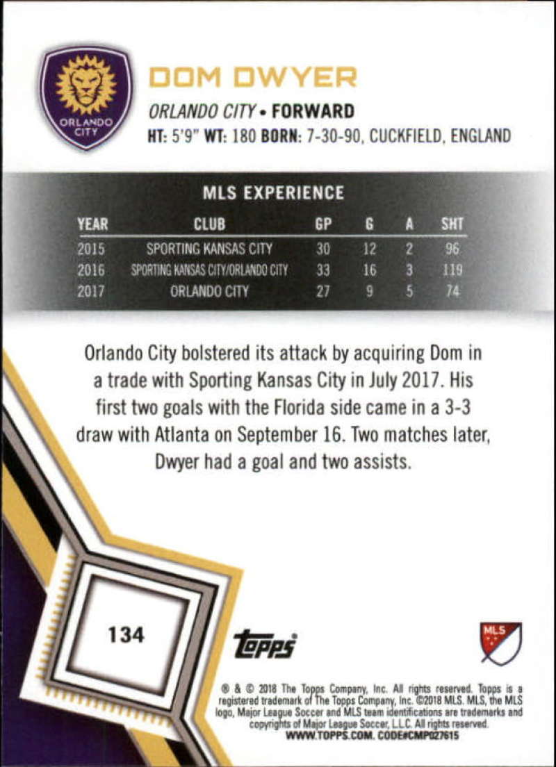 2018-Topps-MLS-Soccer-Base-Set-Cards-Choose-From-Card-039-s-1-200 thumbnail 266