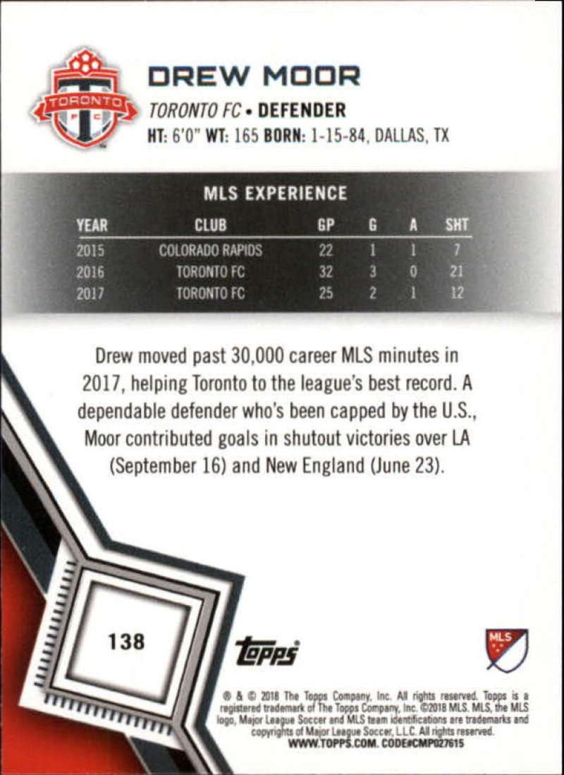 2018-Topps-MLS-Soccer-Base-Set-Cards-Choose-From-Card-039-s-1-200 thumbnail 274