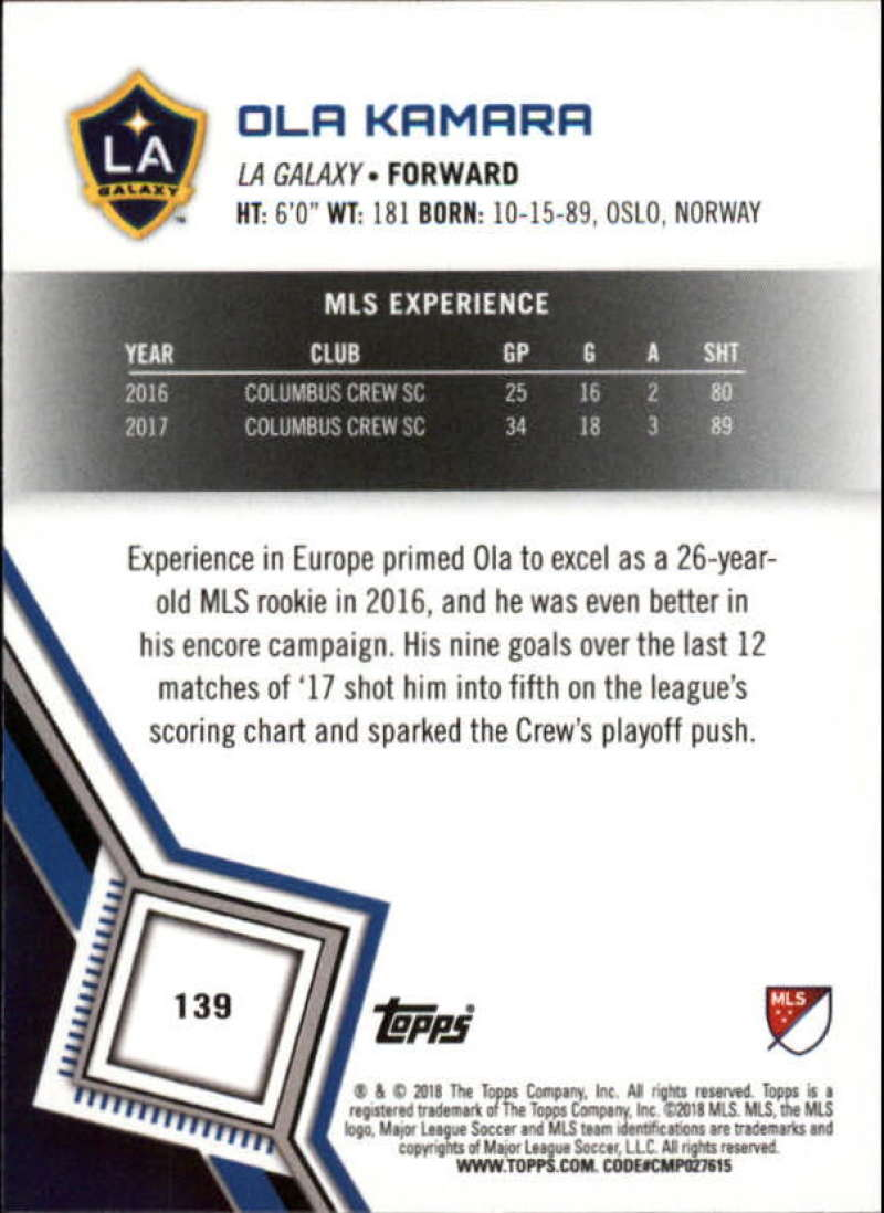 2018-Topps-MLS-Soccer-Base-Set-Cards-Choose-From-Card-039-s-1-200 thumbnail 276
