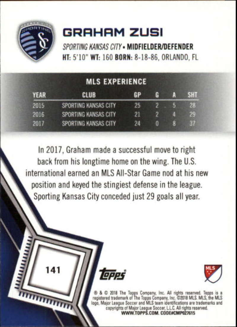 2018-Topps-MLS-Soccer-Base-Set-Cards-Choose-From-Card-039-s-1-200 thumbnail 280