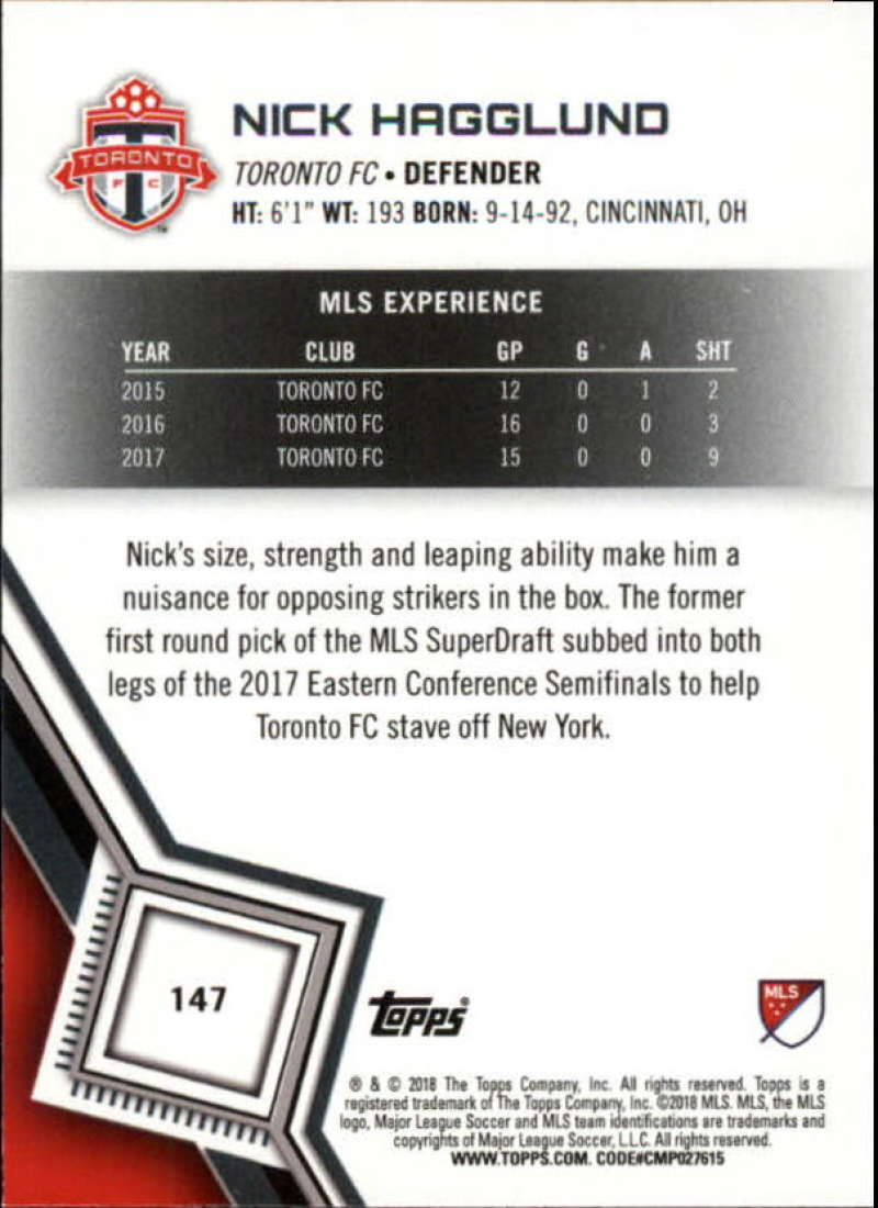 2018-Topps-MLS-Soccer-Base-Set-Cards-Choose-From-Card-039-s-1-200 thumbnail 292