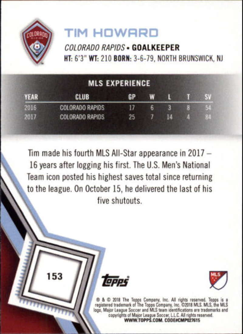 2018-Topps-MLS-Soccer-Base-Set-Cards-Choose-From-Card-039-s-1-200 thumbnail 304