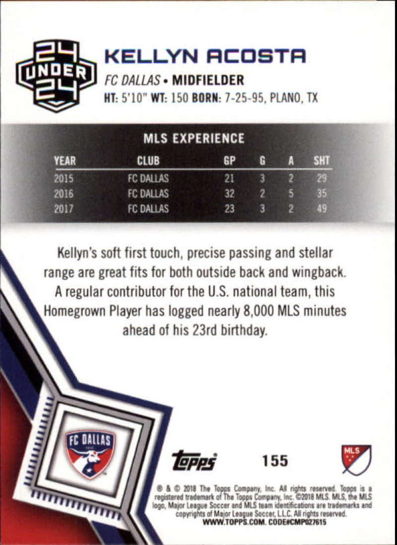 2018-Topps-MLS-Soccer-Base-Set-Cards-Choose-From-Card-039-s-1-200 thumbnail 308