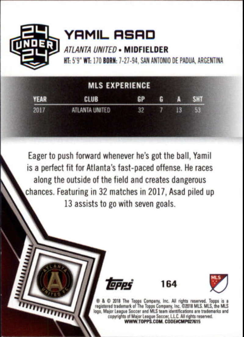 2018-Topps-MLS-Soccer-Base-Set-Cards-Choose-From-Card-039-s-1-200 thumbnail 326