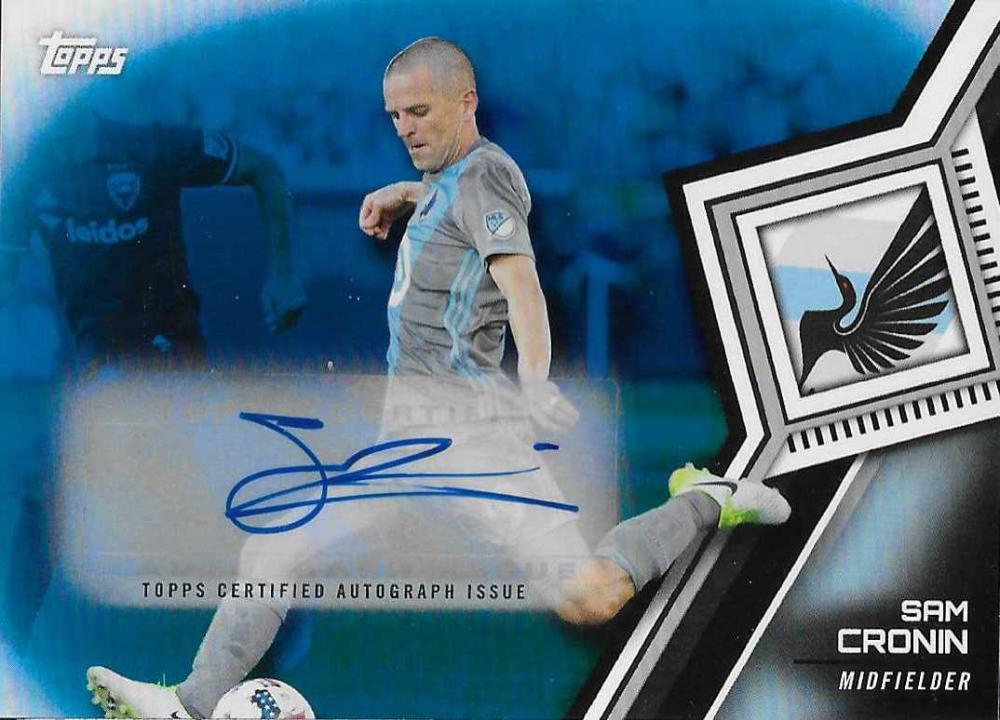 2018 Topps MLS Autographs Blue