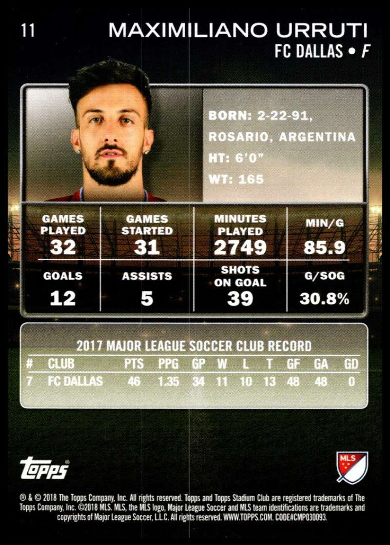 2018-Topps-Stadium-Club-MLS-Soccer-Pick-A-Player thumbnail 23