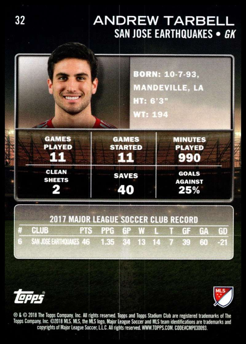 2018-Topps-Stadium-Club-MLS-Soccer-Pick-A-Player thumbnail 63