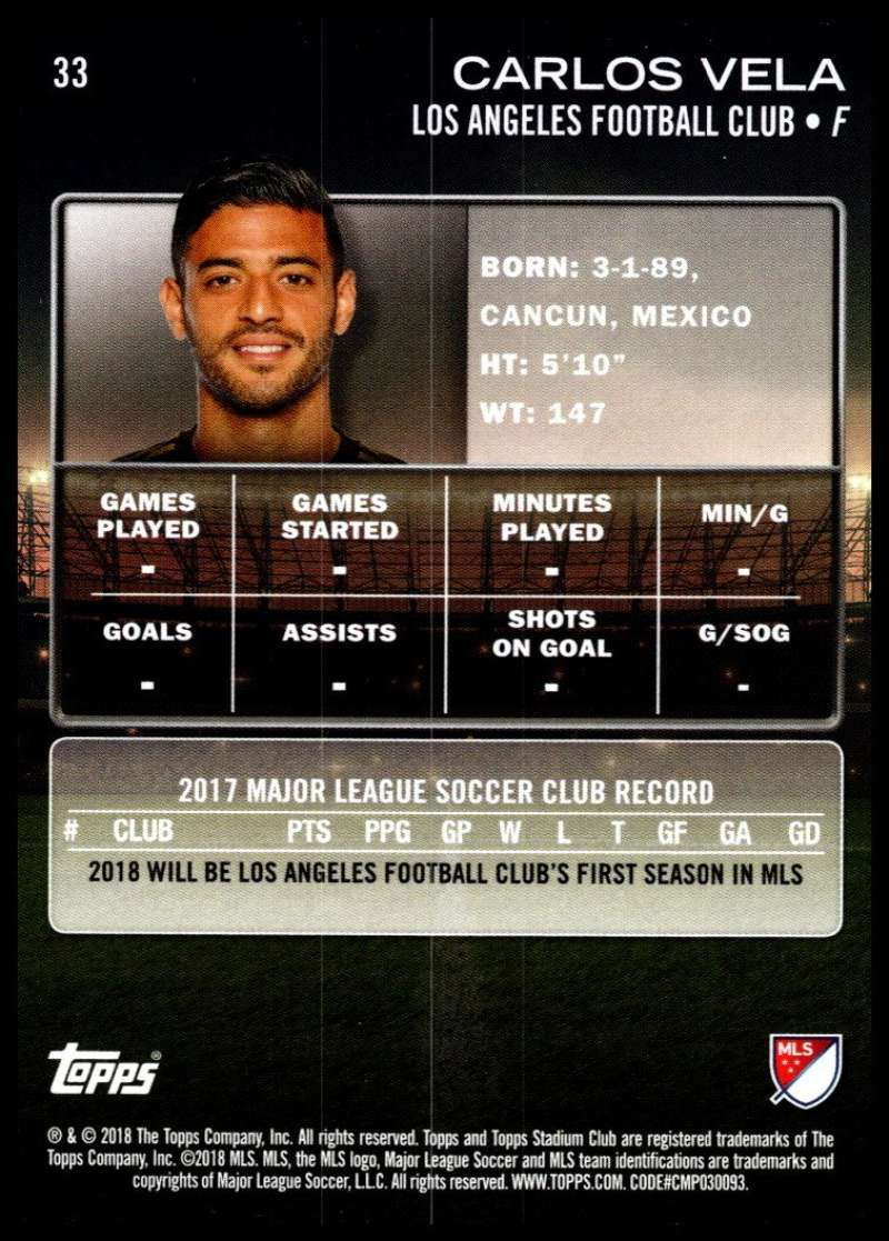 2018-Topps-Stadium-Club-MLS-Soccer-Pick-A-Player thumbnail 65