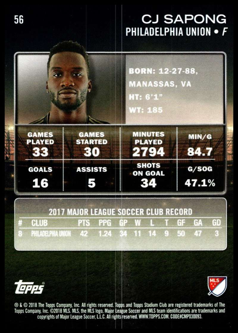 2018-Topps-Stadium-Club-MLS-Soccer-Pick-A-Player thumbnail 111