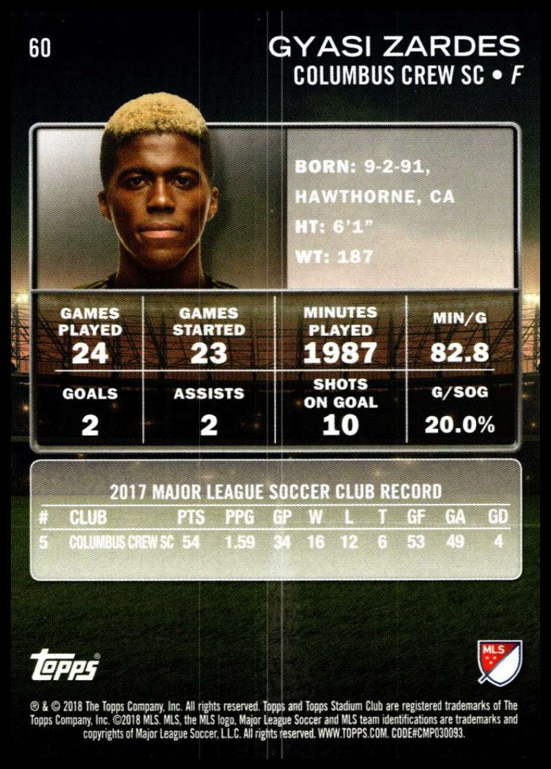 2018-Topps-Stadium-Club-MLS-Soccer-Pick-A-Player thumbnail 119