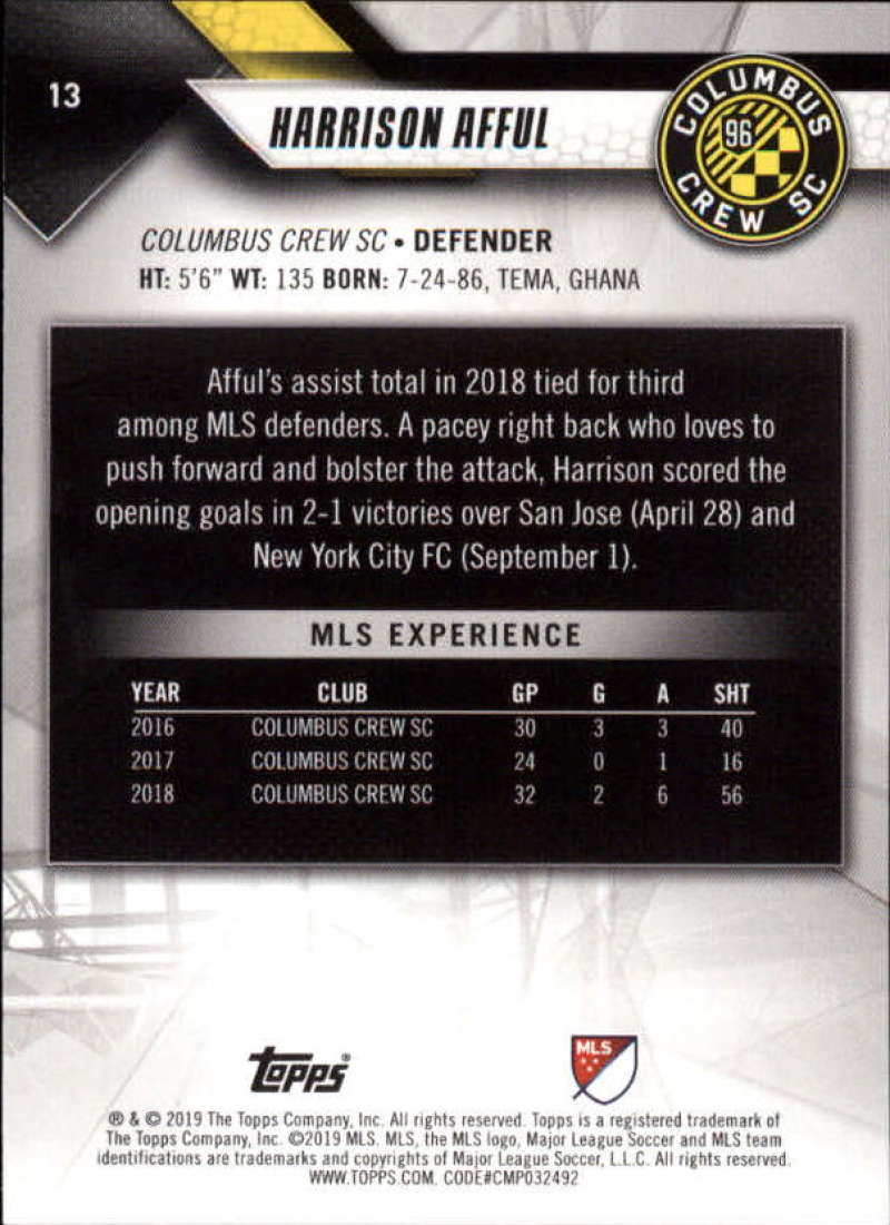 2019-Topps-MLS-Soccer-Base-Set-Cards-Choose-From-Card-039-s-1-200 thumbnail 27